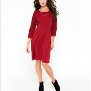 NWT Downeast Lux Dreams Dress Lace Deep Red NEW